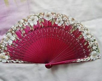 fan painted by hand