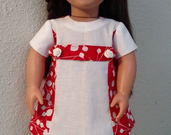 1960s-Style Dress for American Girl Dolls like Melody Ellison, Journey Girls, Our Generation and 18 inch Dolls