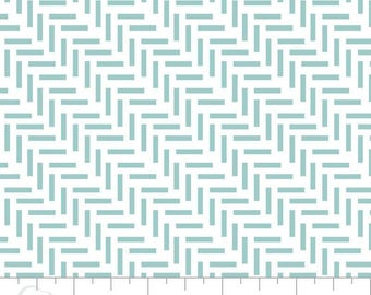 By The HALF YARD - London Fog for Camelot, Pattern #2141505-1 Twede in Light Blue, Diagonal Twede Stripes on White