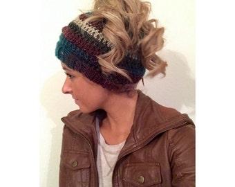 Top knot beanie