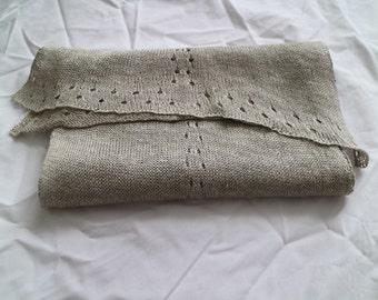 Linen scarf Lady, fine organic linen