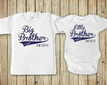 Big brother t-shirt and little brother vest.