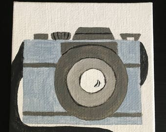 Camera Original Acrylic Mini Painting