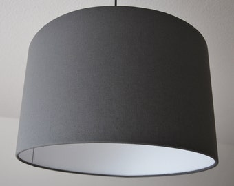 "Lampshade ""graphite gray"""