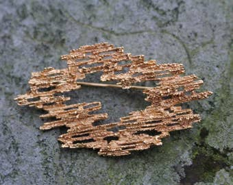 Vintage Modernist Style Gold-Tone Abstract Brooch by Vendome (Coro)