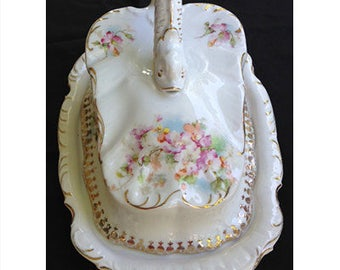 Antique Covered Cheese Dish