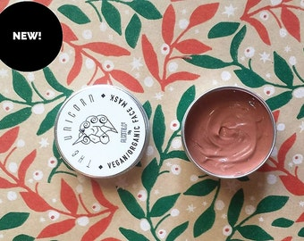 Luxe Clay Mask -The Unicorn Brightening Facemask / Vegan / Organic / Natural / Handcrafted Skincare  Made in Australia.