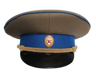Vintage Soviet Russian KGB Visor Cap Officer Hat