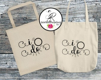 I Do Tote Bag, Brides Tote Bag, Canvas Tote, Wedding Day Tote Bag, Brides Bag. Bride Gift, Bride, Typography Tote Bag, Wedding Totes
