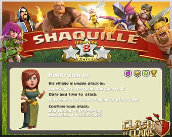 Digital invitation for Clash of Clans's Birthday.