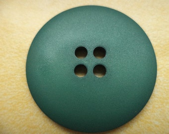 4 large dark green buttons 31mm (6618) button green coat buttons jacket buttons