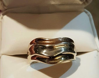 Vintage Tri Color Milor Ring Size 8