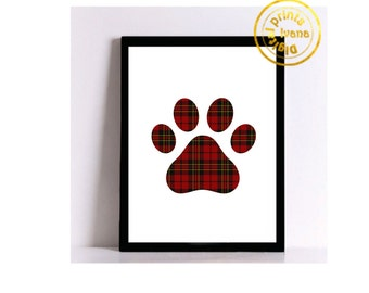 Printable art Digital Prints paw wall art Home decor printable art, printable prints