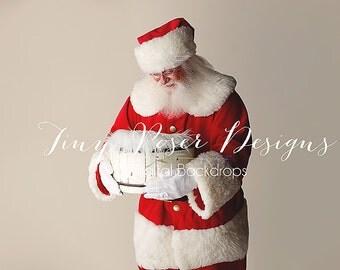 Christmas Newborn Digital Santa and Baby Background / Backdrop Newborn Photography Digital Prop Santa Instant Download