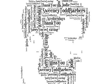A4 Personalised Word Bearded Man Print (UK ONLY)/Download