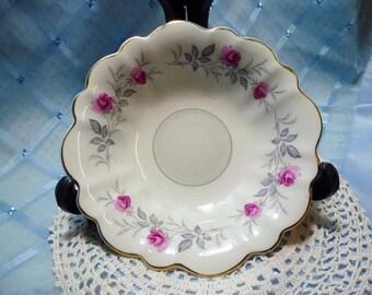 """Vintage Small Salad/Dessert Dish Myott's """"Royal Bride"""""""