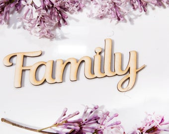 10 x Family' and 'Our Family' sign, letter  DIY Craft, DIY Supplies,decoupage,Frames Craft, DIY Supplies, Ikea frames
