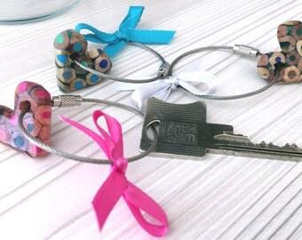 Heart key pendant