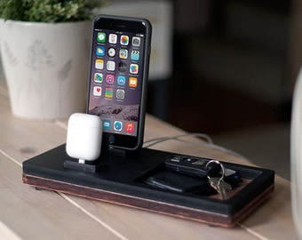 NytStnd AIRPODS DUO 2 Midnight - FREE Shipping Dock Charging Station Wireless for iPhone 8 AirPods Birthday Gift Present