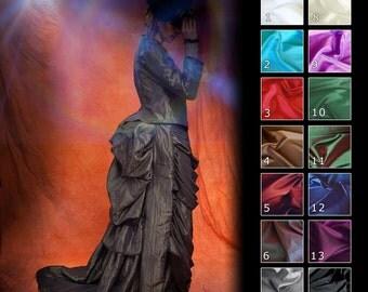 Historical Victorian Steampunk Goth Ball Bustle Dress Custom Sized
