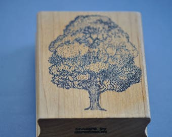 Tree Rubber Stamps Forest Scenery Pine Art Nouveau Nature