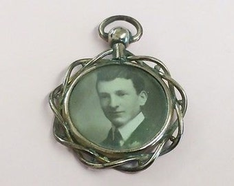 Antique Victorian Rolled Rose GoldDouble Photo Locket Pendant - 1900