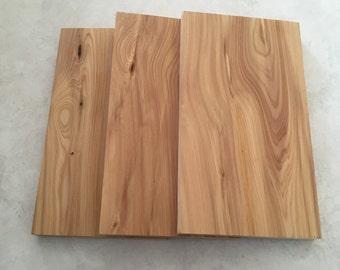 "Set of 3  (4""x 7"" x 1/2"")  thick Cedar Wood Slabs"