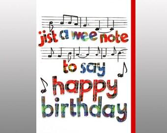 Scottish Birthday Card Music WWBI60