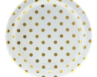 Gold Polka Dot Party Supplies, Gold Party Kit