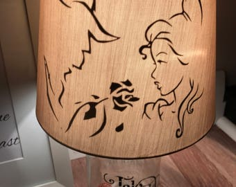 Beauty and beast inspired mason lamp