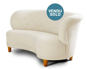 Curved sofa Swedish, circa 40, Scandinavian