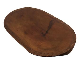 Vintage Wooden Dough Bowl Bateau