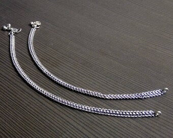 Indian Payal | Fusion anklet | Gypsy payal jewelry | Festive gift jewelry | Silver plated anklet | Ethnic Indian women's jewelry | A147