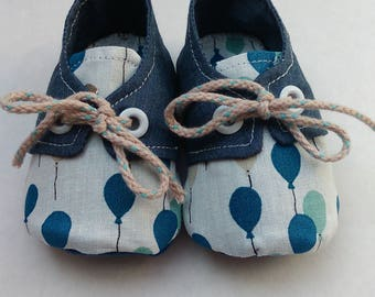"Town shoes / basketball in cotton ""Blue ball"""