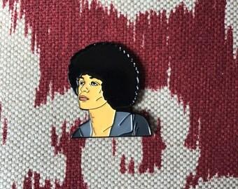 Angela Davis Lapel Pin - Soft Enamel