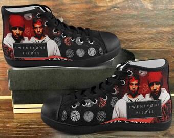 New Custom Shoes Sneakers TWENTY ONE PILOTS Art Quote Design For Men And Women Black soles Twp98