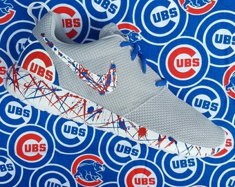 Nike Roshe one Custom Go Cubs Go edition available in all sizes mens and womens