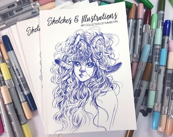 ART BOOK: Sketches & Illustrations - Art Collection of Rambutan