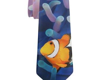 Clownfish Sea Anemone All Over Neck Tie