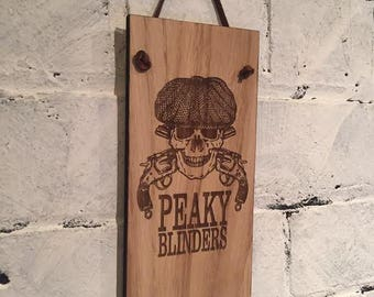 PEAKY BLINDERS. Shabby chic wooden wall plaque/sign. Great quality. Great gift for fans of the TV series.
