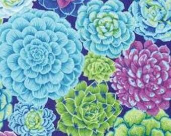 Natural Wonder Fabric -Succulents- Phillip Jacobs Snow Leopard Designs for FreeSpirit - CT 118723