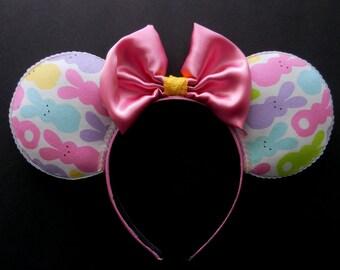 Easter Peeps Bunny Disney Inspired Mouse Ears !!!