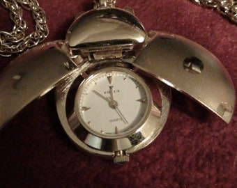 lady bug necklace watch
