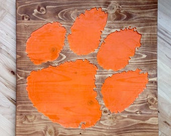 Clemson Tiger Paw Wall Art