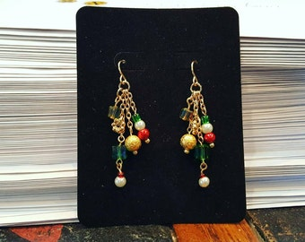 Out for the Holidays Dangle Cluster Earrings