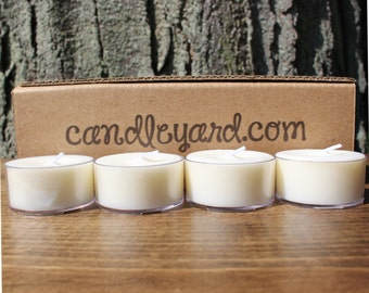 "Candle Yard Co 24 Unscented Soy Tealight Candles 1.5""W Made in USA"