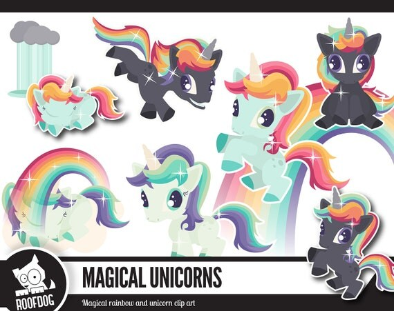 Rainbows And Unicorns Clip Art
