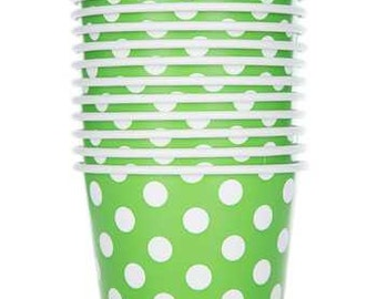 Polka Dot Snack Cups For Party Favors, Baked Goods, Gift Bags.