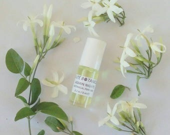JASMINE Botanical Perfume, Natural Fragrance Roll on, Eau de Parfum Jasmin, Summer Fragrance