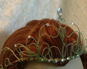 "Headpiece-Princess-Elven crown-Wedding crown- Fairy crown ""Elizabeth"""